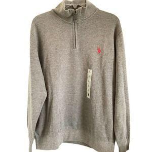 U.S. Polo Assn. 1/4 Zip Long Sleeve Sweater